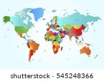 world map countries vector on... | Shutterstock .eps vector #545248366