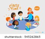 kids listen and talk to... | Shutterstock .eps vector #545262865