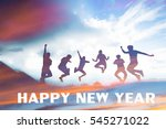 blurred of silhouette people... | Shutterstock . vector #545271022