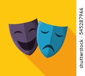 theater masks isolated icon | Shutterstock .eps vector #545287966
