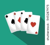 poker cards isolated icon | Shutterstock .eps vector #545287975