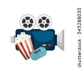 cinematographic entertainment... | Shutterstock .eps vector #545288035