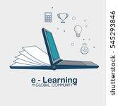 e learning global community | Shutterstock .eps vector #545293846