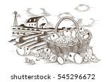 fruits basket and farm | Shutterstock .eps vector #545296672