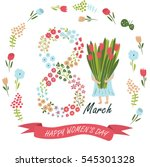 vector 'happy women's day'... | Shutterstock .eps vector #545301328