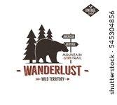 vintage wild emblem. retro... | Shutterstock .eps vector #545304856