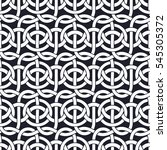 interlacing of ropes form a... | Shutterstock . vector #545305372