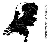 black map of netherlands | Shutterstock .eps vector #545308072
