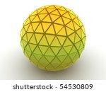 beautiful three dimensional... | Shutterstock . vector #54530809