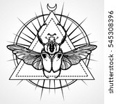 winged bug. esoteric symbol ... | Shutterstock .eps vector #545308396