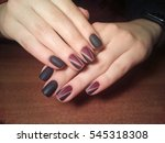 manicurist job done perfectly... | Shutterstock . vector #545318308