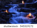 cascading waterfall garden at... | Shutterstock . vector #545319172