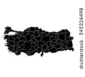 black map of turkey | Shutterstock .eps vector #545326498