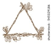 Triangular Frame Of Oak...
