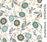 seamless repeating floral... | Shutterstock .eps vector #545329336