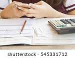 document and notebook monthly... | Shutterstock . vector #545331712