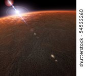 mars planet view from space | Shutterstock . vector #54533260