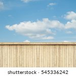 wooden fence sky clouds | Shutterstock . vector #545336242
