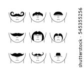 set of vector hipster mustaches   Shutterstock .eps vector #545355256
