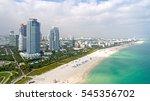 miami south beach aerial view... | Shutterstock . vector #545356702