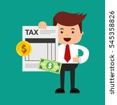 tax time flat line icons vector ... | Shutterstock .eps vector #545358826