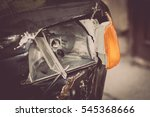 color image of a crashed car... | Shutterstock . vector #545368666