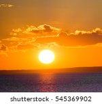 fiery disk morning scene    Shutterstock . vector #545369902