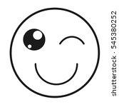 emogy face kawaii style vector... | Shutterstock .eps vector #545380252