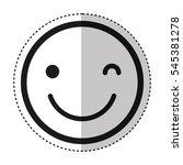 emogy face kawaii style vector... | Shutterstock .eps vector #545381278