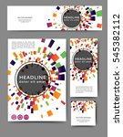 set of promotional flyers with... | Shutterstock .eps vector #545382112