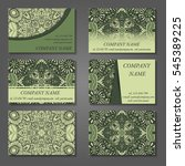 set of stylish business card... | Shutterstock .eps vector #545389225