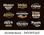 menu bar  icons set. labels of... | Shutterstock .eps vector #545395165