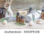 essential oil sage towel spa.... | Shutterstock . vector #545399158
