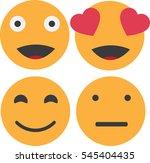 smiley face set   Shutterstock .eps vector #545404435