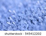 macro view of frost with a blue ... | Shutterstock . vector #545412202