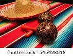 maracas mariachi cinco de mayo... | Shutterstock . vector #545428018