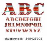 english alphabet  capital... | Shutterstock .eps vector #545429305