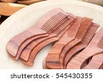 Lots Of Hand Made Wooden Comb