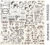 vintage decorative vector... | Shutterstock .eps vector #545433232