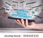 corporate social responsibility ... | Shutterstock . vector #545435152