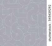 vector seamless loop pattern in ... | Shutterstock .eps vector #545439292