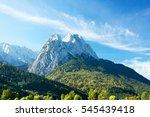 view on waxenstein mountains... | Shutterstock . vector #545439418