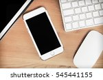 laptop computer phone  office... | Shutterstock . vector #545441155