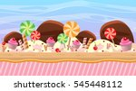 cartoon style game background... | Shutterstock .eps vector #545448112