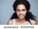 indoor portrait of a beautiful... | Shutterstock . vector #545449966