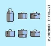 set of suitcases in flat design ...   Shutterstock .eps vector #545451715