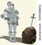 knight in armour looking at... | Shutterstock .eps vector #545458852