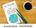 new year's resolution on the... | Shutterstock . vector #545462986