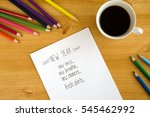 new year's resolution on the... | Shutterstock . vector #545462992