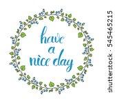 simple vector floral wreath... | Shutterstock .eps vector #545465215